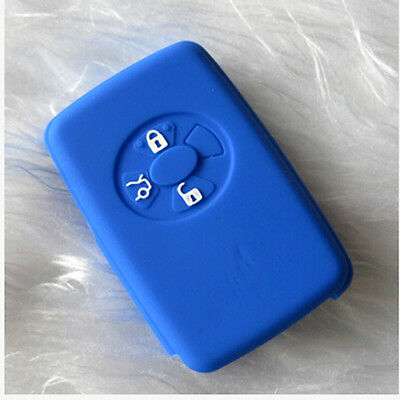Blue Silicone Car Key Case For Toyota Auris Avensis Camry Carina Celica Corolla