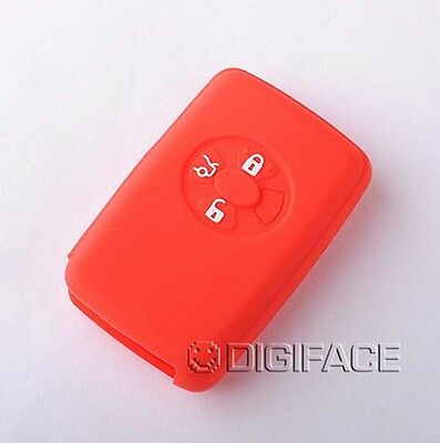 Red Silicone Car Key Case For Toyota Auris Avensis Camry Carina Celica Corolla