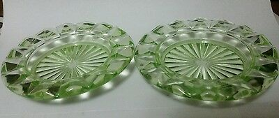 Depression Glass Ashtrays