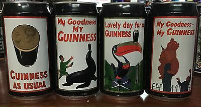 Guinness.375ml.  by CUB.Collector Beer CanS x 4 Complete Set.
