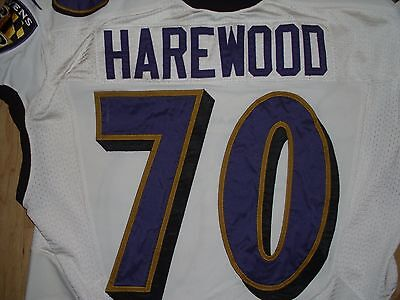 Ramon Harewood Baltimore Ravens Game Used Worn Jersey Super Bowl