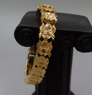 Attractive Bracelet Real Solid Yellow Gold 18K Jewelry 23g