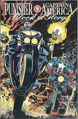 Blood And Glory: Punisher/Capt. America #2 (Nov. 1992) NM Modern Age Marvel #685