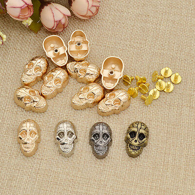 Charm Alloy Skull Rivet Stud DIY Leathercraft Bag Shoes Purse Decor New 10 Pcs