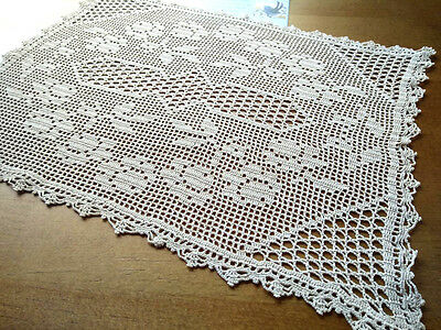 Gorgeous Filet Flower Cream Hand Crochet Centrepiece/mat