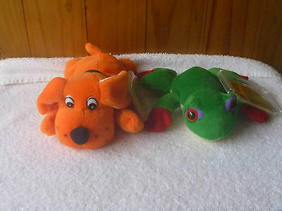 ULTRA RARE- Tango the Orange Dog & Lilly the Green Frog  -1st Generation Tags.