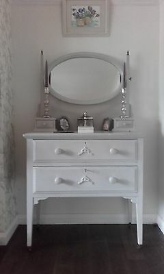 Shabby chic antique, pine dressing table