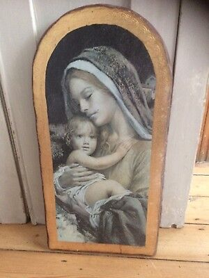 Religious art. Picture. Mary and Jesus.
