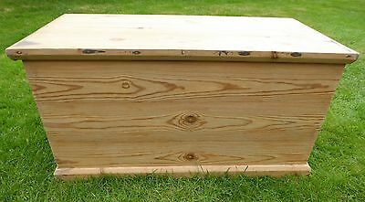 Antique large Stripped Pine Trunk for storage, toys, coffee table, blankets etc