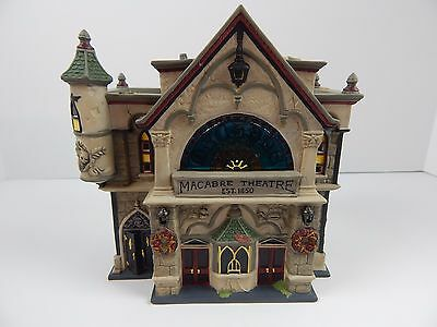 Dept 56 Dickens Village All Hallows Eve Theatre of the Macabre #58706 Nice!