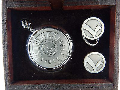 Lionel Trains New Pocket Watch & Cuff Links in Gift Box Great for Father's Gift!
