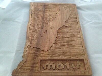Handcarved South Island of New Zealand in wood