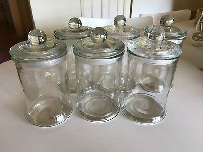Set of 6 glass jars. Lolly/candy jars