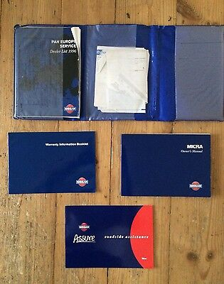 97-02 Nissan Micra Owners Handbook Manual With Service Book And Dealer Wallet