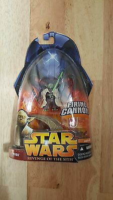 Star Wars Yoda Firing Cannon 2005 On  Card