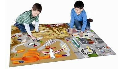 Hot Wheels Mega Foam Playmat with Two Vehicles for Interactive Play-Age 3 and Up