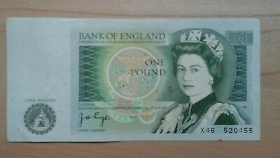 Old One Pound Note,  Jb Page . Nice Note See Photo As Judgement Of Quality