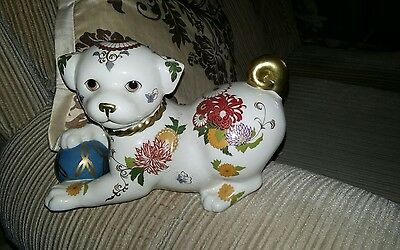 """Franklin Mint Hand Painted Porcelain Figure """" Imperial Puppy Of Satsuma"""""""