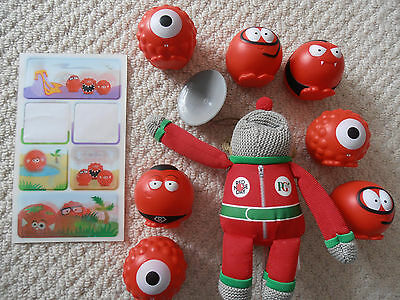 Comic Relief Red Nose Bundle - 2015 Noses x 7, Stickers & PG Tips Hanging Monkey