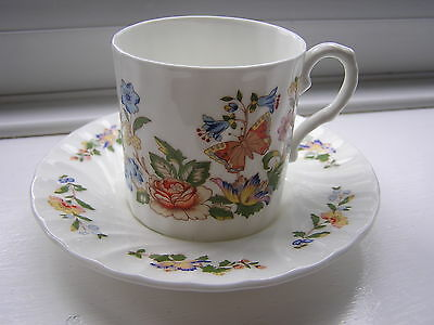 Aynsley Cottage Gardens Demitasse Coffee Can & Saucer Excellent Condition