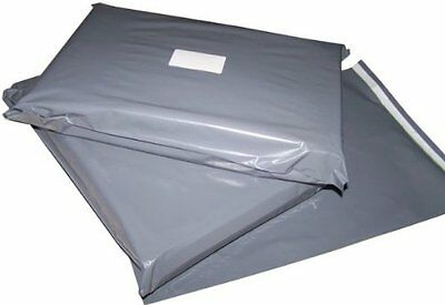 100 Mixed Grey Plastic Mailing Mail Post Postage Bags good quality adhesive