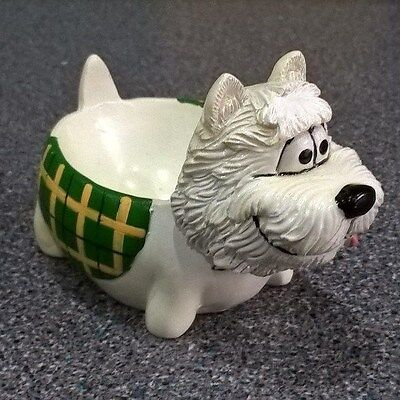 Lovely Westie Dog Ornament / Large Egg Cup / Pot