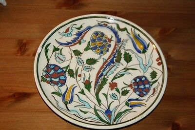grand plat  IZNIK OLD CERAMIC POTTERY IZNIK  'Splate  XIX