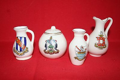 4 Arcadian crested wear china souvenirs