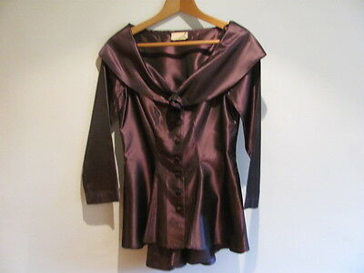 Purple Taffeta Jacket  Size 12