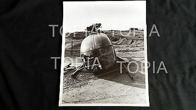 "101st Vietnam 1969 ""Crashed Copter"" 1 - 8x10 b&w pic"
