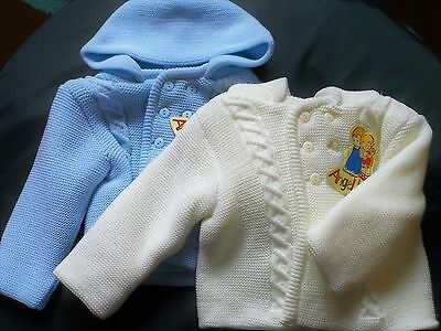 Baby Boy Beautiful Thick  Chunky Knitted Hooded Cardy