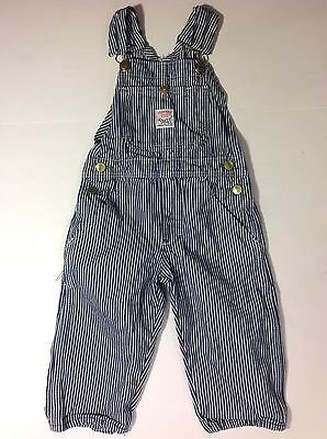 Vintage Pointer Brand Engineer Stripe Denim Overalls, USA Made, Toddler Boy's 2