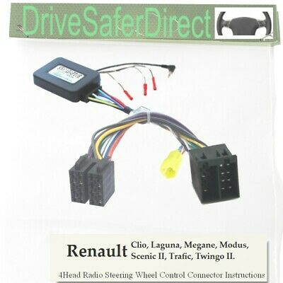 CANbuz-SWC-6853-01 Steering Wheel Control for ISO Radio/Renault Clio 05-09