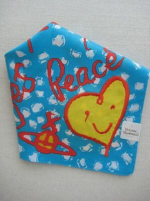 BRAND NEW Vivienne Westwood Yes to Peace Handkerchief