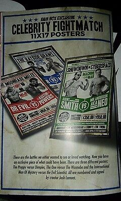 Josh Lamont Signed 11x17 BAM BOX Exclusive Fight Posters All 3 Posters
