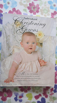 embroidered christening gown book
