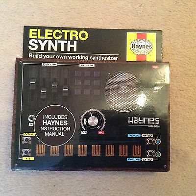 haynes electric synth build your own working Synthesiser. retro 80s style..