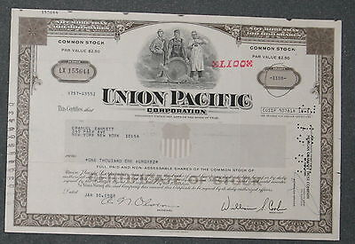 Union Pacific Coroperation 1983 1110 Shares .
