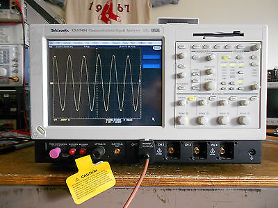 Tektronix TDS7404 CSA7404 DSO Loaded with OPTIONS 4M JIT PWR SM and MORE!