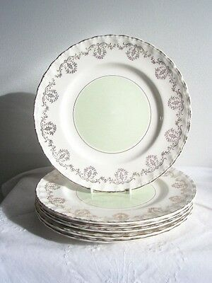 "Vintage Grindley  9""  Plates  X  5 Pale  Green"