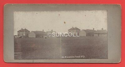 Original Real Stereo view Photograph Circa 1900s of Creeksea Ferry in Essex No 3