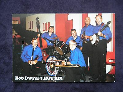 Vintage Postcard of Bob Dwyer's HOT SIX photographed at London's famous 100 Club
