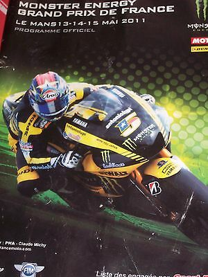 Programme Moto GP- French Grand Prix 13-15 May 2011 at Le Mans -Language French