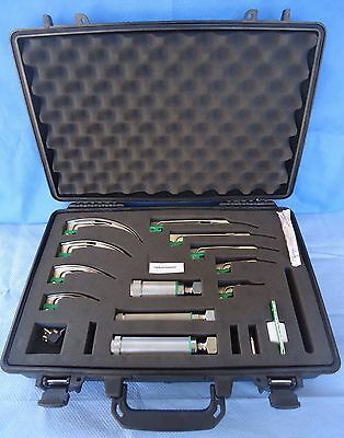 Welch Allyn #5062 Comprehensive Laryngoscope Kit In Pelican Case-Excellent