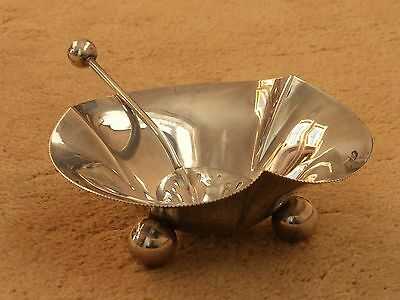 Antique Quality Silver Plated Sugar Bowl & Matching Pretty Sifter Spoon Hm B'ham