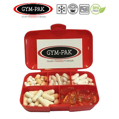 Supplement Container Pill Box (Heavy duty but really Light Weight) GYM-PAK