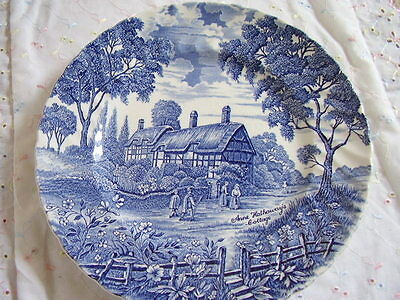 Royal Essex England  porcelain blue and white plate-dish,