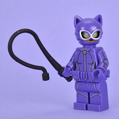 Catwoman LEGO Minifigure with Whip - Genuine Minifig from Set 70902
