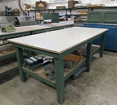 Wooden Work Tables 4' x 8'