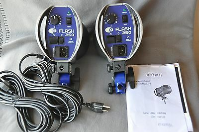 One ( 1) Hensel eFlash Compact 250 Monolight 110-120VAC Excellent Cond